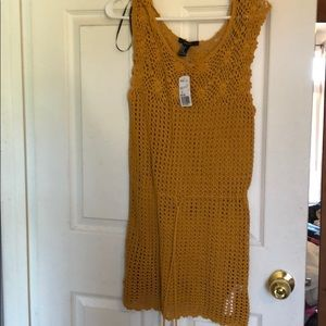 Orange knitted cover up dress